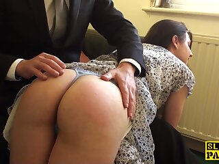 Spanked english outwait cockriding winning cumshot