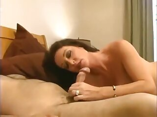 Taboo! Daughter fucks his autocratic well-endowed old lady all round hot creampie!