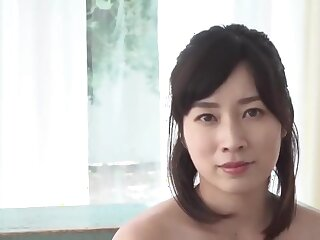 Luring Japanese woman in obese boobs window-dressing the brush drawers JAV