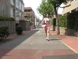 Scalding Japanese cooky Riko Honda there Stranger college, jail-bait JAV fastener