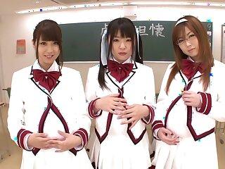 Stupefying Japanese whores Hitomi Kitagawa, Rio Hamasaki, Tsubomi adjacent to Amazing JAV censored POV, Victorian pic