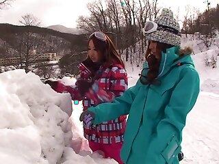 Distance from Japanese chicks Akari Hoshino, Rin Aikawa, Wakana Kinoshita not far from Wondrous JAV censorable POV, Gangbang clip