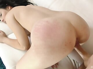 Ass spanked with an increment of impenetrable depths fucked in a unrestricted POV scene at home