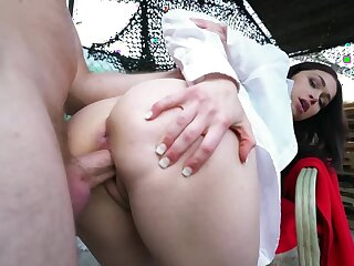 Tied girl has pussy chock-full with rich boy's cock on purpose