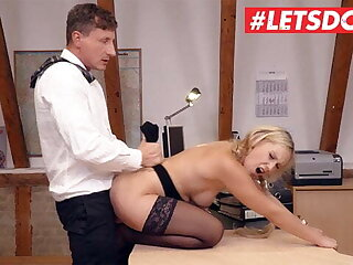 LETSDOEIT Sexy Lena Nitro Has Hot Fuck With Sleepy Boss On tap Work