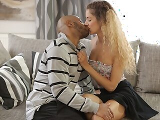 BLACK4K. Monique Woods works as maid padlock wants to get BBC